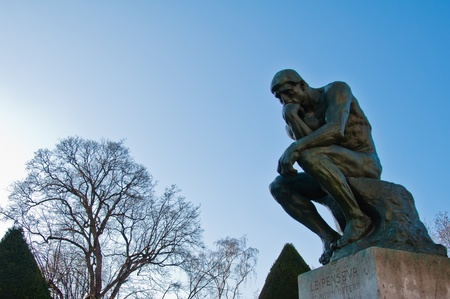 the thinker: The Thinker by Rodin Stock Photo