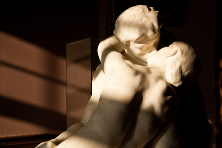 Lover statue at Rodin museum, Paris France photo