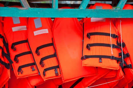 Orange Life Jackets photo