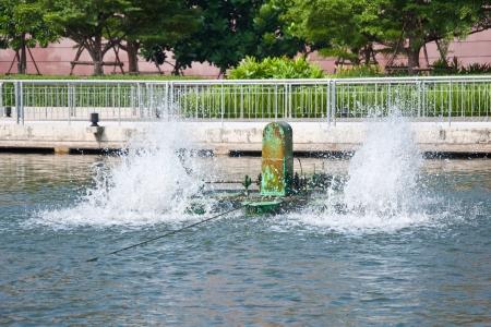 water turbine: Water turbine in the pool