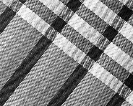 Black and White Closeup texture of Fabric, Thai style loincloth photo
