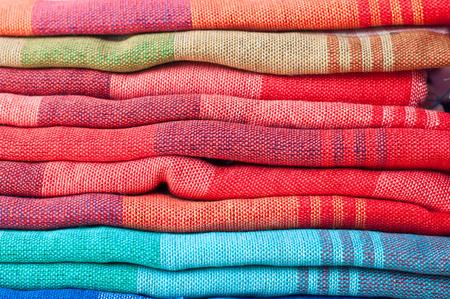 Closeup folded of Fabric, Thai style loincloth photo