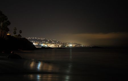 coast at night