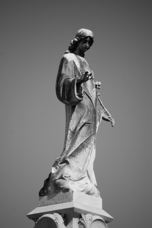 New Orleans Cemetery Statue Imagens