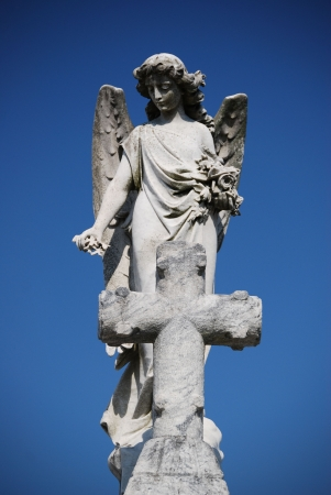 angel cemetery: New Orleans Cemetery Cross and Angel