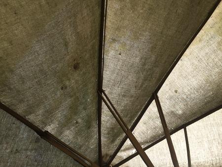 an antique: antique umbrella