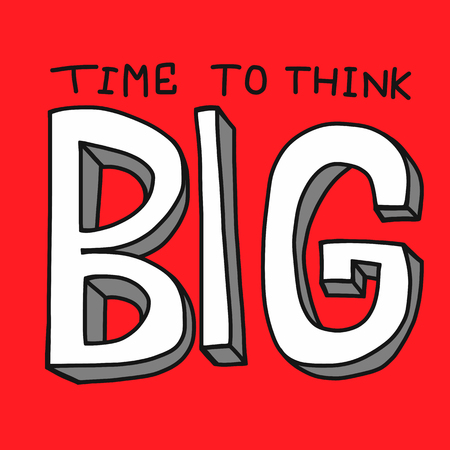 Time to think big word vector illustration 일러스트