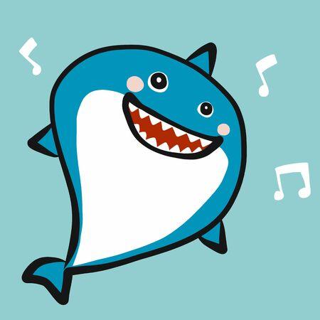 Shark smile cartoon vector illustration