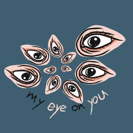 My eye on you vector illustration