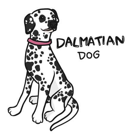 Dalmatian dog cartoon vector illustration Ilustração