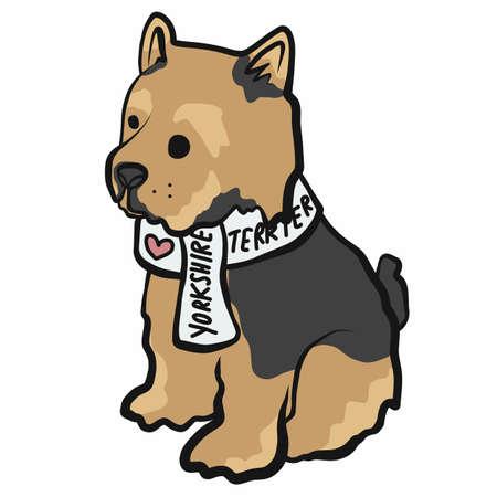Yorkshire Terrier dog cartoon vector illustration