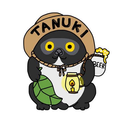 Tanuki (Japanese raccoon) cartoon vector illustration