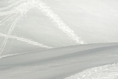 Ski slope in sunlight