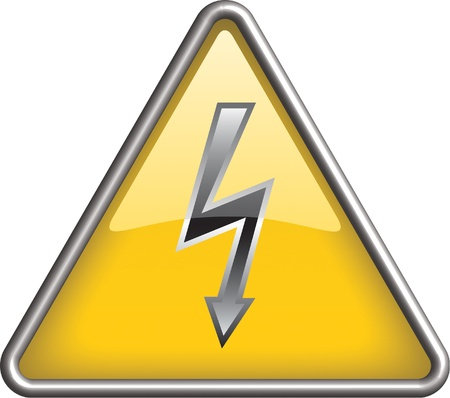 electricity danger of death: High voltage icon, symbol