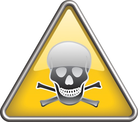 Toxic icon, symbol
