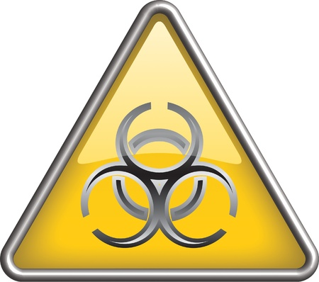 Biohazard icon symbol, icon Vector