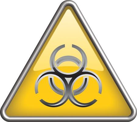 infectious: S�mbolo de riesgo biol�gico icono, icono Vectores