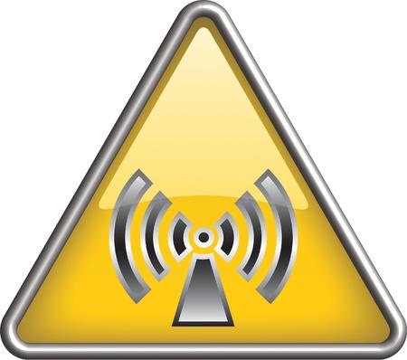 ionizing radiation: Non ionizing radiation icon, symbol