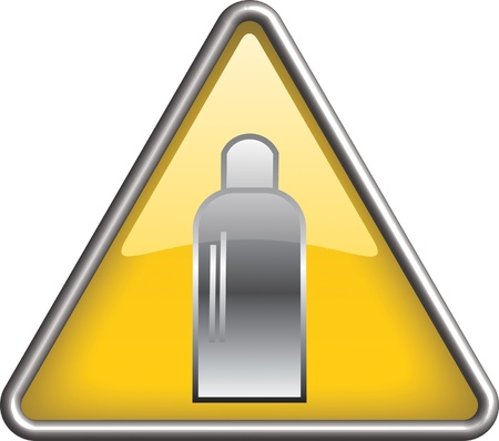 Gas bottle hazard icon symbol, icon Stock Vector - 9165104