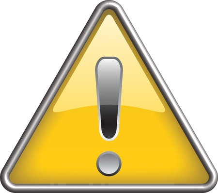beware: Ganarel warning icon symbol, icon Illustration