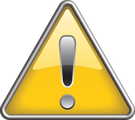 Ganarel warning icon symbol, icon Illustration