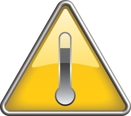 High temperature hazard icon symbol, icon