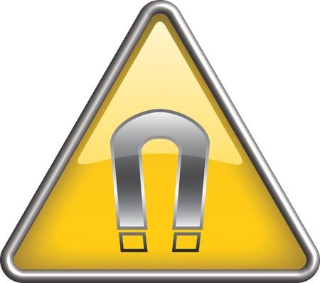 Magnet hazard icon symbol, icon Illustration