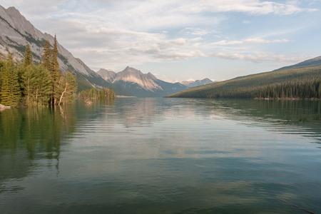 Maligne lake in Jasper national park, Alberta, Canada 版權商用圖片