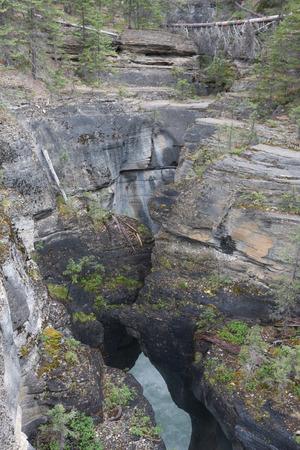 slot canyons: Maligne Canyon Jasper National Park