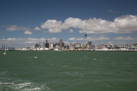 Skyline Auckland New Zealand, shoor from the water