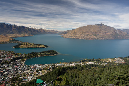 Queenstown with the Remarkables in the backround
