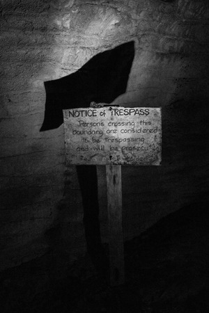 trespass: No Trespass Sign in blackwhite