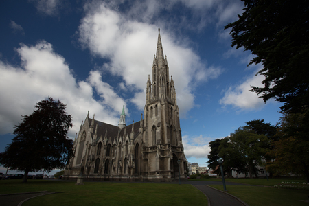 First Church of Dunedin, New Zealand 版權商用圖片