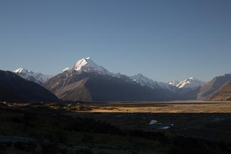 Mt Cook New Zealand 版權商用圖片