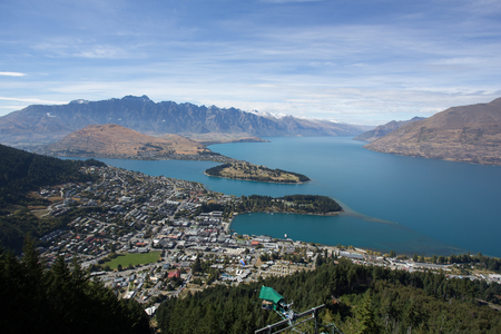 new horizon: Queenstown with the Remarkables in the backround
