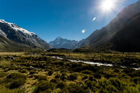 New Zealand Alps 版權商用圖片