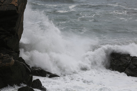 rough sea: Rough sea, rough water at the coast