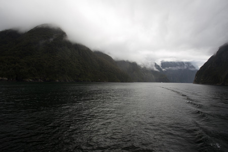 Amazing Mountains at Milford Sound, New Zealand
