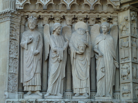 notre dame: Figuren at Notre Dame Stock Photo