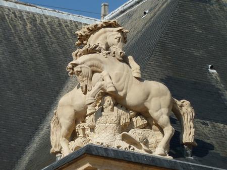 notre: Figure at Notre Dame Stock Photo
