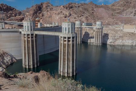 Hoover Dam from Lake side 版權商用圖片