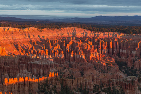 Sunrise at Bryce Canyon, partly sunny