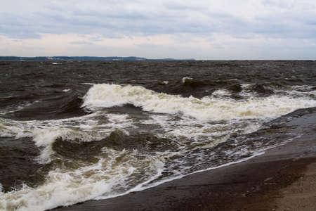Rough Baltic waves - ÅšwionujÅ›cie, Poland