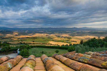 Outskirts of Volterra - Tuscany, Italy Banco de Imagens