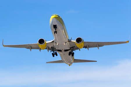 boeing: CORFU, GREECE - AUGUST 30: TUIfly Boeing 737-800 takes off Corfu Airport - CFU. August 30, 2013.