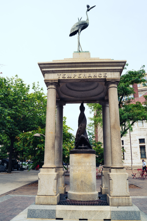 Washington, DC - August 5, 2019: The Temperance Fountain, donated by San Francisco Dentist Henry D. Cogswell