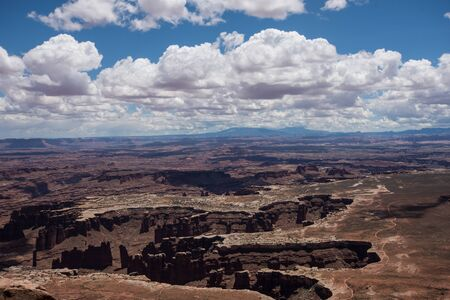 Canyonlands National Park - Islands in the Sky unit on a sunny day Stock fotó