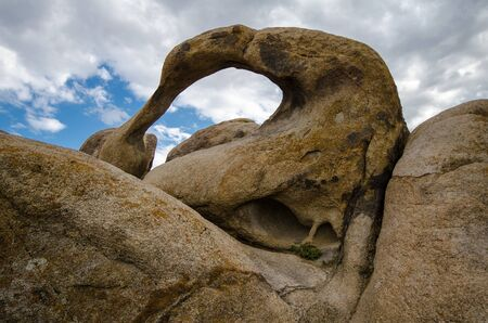 Moibus Arch, also known as the Whitney Portal Arch, in the Alabama Hills area of California