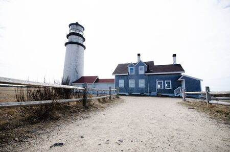 Highland Lighthouse on Cape Cod on a spring day in Barnstable County Massachusetts
