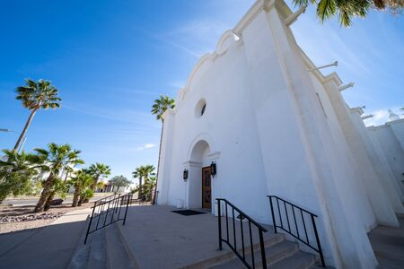 The Immaculate Conception Catholic Church located in Ajo, Arizona Reklamní fotografie